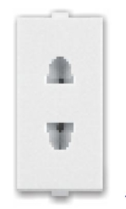 Great White Twin Socket 16 Amp Black