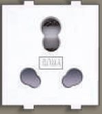 Anchor Twin Socket (Heavy Duty) 10a-25a White