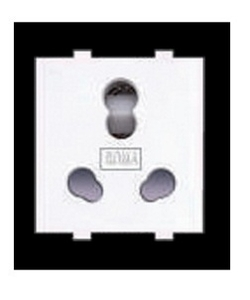 Anchor 30828 Twin Socket  (Colour White, Standard Packing 10)