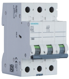 Siemens 5sl63507rc 50 A Three Pole Mcb