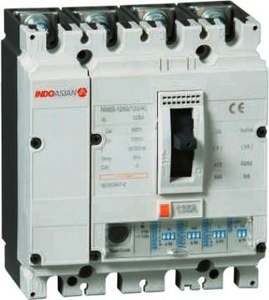 Indo Asian N2125h4p 4 Pole Molded Case Circuit Breaker Mccb (Rated Current 125 A)