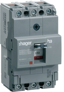 Hager Hha100z Thermal Magnetic Release 3 Pole Molded Case Circuit Breaker Mccb (Rated Current 100 A)