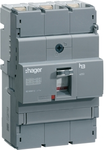 Hager HNB200U Thermal Magnetic Release 3 Pole Molded Case Circuit Breaker  MCCB (Rated Current 200 A)