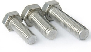 Mahavir Fasteners Hex Bolt & Hex Screw Full Thread Dia 1/4 Length 4 Grade 304-A2