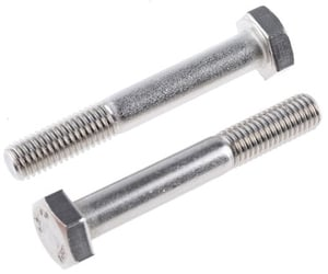 Tvs Hex Bolt (Dia 7/8  Length 2 1/4 Inch) White Bs 1083 Property Class 5.2