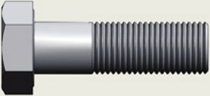 Lps Fasteners Hex Bolt (Dia M10  Length 25 Mm) Is 4218