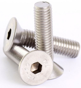 Mahavir Fasteners Stainless Steel Allen Csk Screw (Dia 1/4 Inch, Length 2.1/2 Inch)