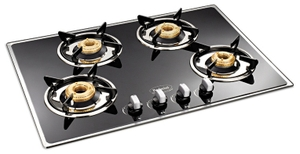 Padmini Essentia Gas Hobs (4 Burners Black) - Cs-400 Gl-Ib