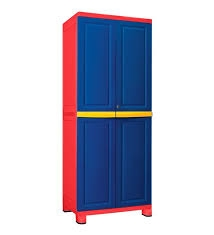 Nilkamal Freedom Big 1 Storage Cabinet (Pepsi Blue And Bright Red)