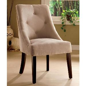 Furniturestyle Oud - Cream Tufted Backrest Chair Fs Tp Dc 001
