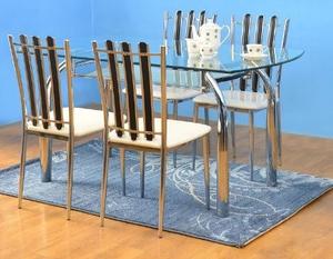 Nilkamal Glass Top Chrysanta 1+4 Dining Set (FLCHRYSDSET14WNT)