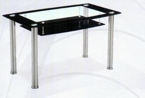 Nilkamal 6 Seater Glass Top Jasmine Dining Table (FLDTJASMIDT6SBLK)