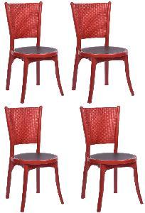 Strange Buy Supreme Iris Maroon Black Without Arm Dining Chair Beutiful Home Inspiration Semekurdistantinfo