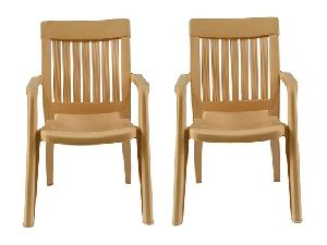 Italica Furniture Metallic Beige Premium Arm Chair 9012