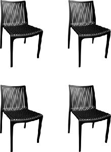 Supreme Oasis Black Color Monoblock Chair