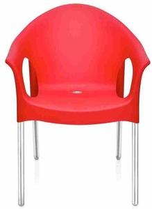 61c8b0da965b4 Buy Nilkamal Novella Chair Stainless steel Legs - Bright Red - Novella 09  (FLOCNOVLAWAOCS9008) Online in India at Best Prices