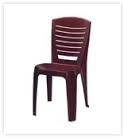 Nilkamal Armless Chair - Weathered Brown - Chr 4025