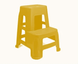 Nilkamal Stl 21 Plastic Stool (Pear Wood)