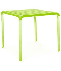 Nilkamal Novella Plastic Table - Green - Nt01