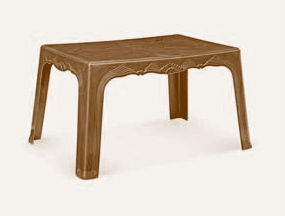 Nilkamal Center Plastic Table - Weathered Brown - Magnum