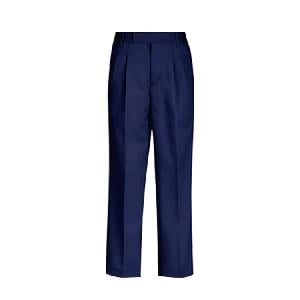 Onip Navy Blue Size 40x30 Pleated Trouser