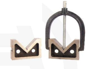Apex 756g C.I. V-Block Precision Ground With One Clamp Pair (75x50x50 Mm)