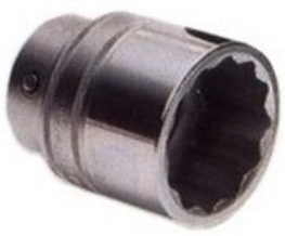 Griphold 1 Inch Square Drive Bi Hex Socket 1 1/4 Inch