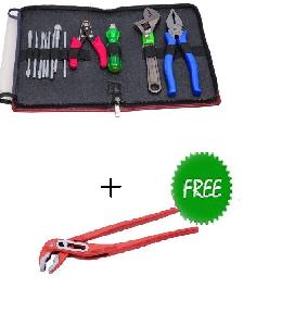 Eastman All In One Tool Kit With Free 10 Inch Water Pump Plier E-2108+E-2030a