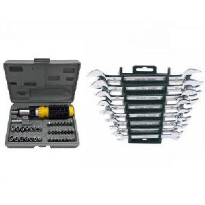 Attrico Combo Of 41 Pcs Screwdriver And 8 Pcs Spanner Set