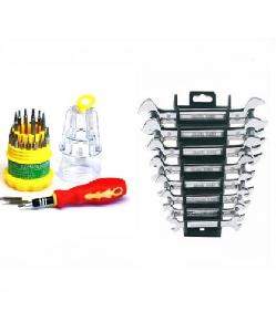 Attrico Combo Of 31 Pcs Screwdriver And 8 Pcs Spanner Set
