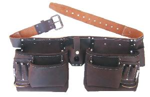 Inder P-1528a Oily Tanned Top Grain Leather Carpenter Tool Apron