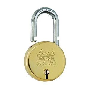 7f5778bbbffc Buy Link Padlock Round Brass Lock 65 mm L65-LBPL-65 Online in India at Best  Prices