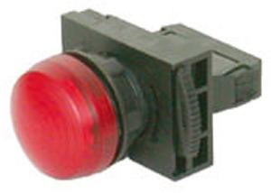 Nhd Npl22-Ri Red Push Button With Contact Element Ac/Dc 220-240v