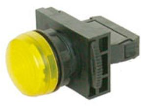 Nhd Npl22-Yi Yellow Push Button With Contact Element Ac/Dc 220-240v