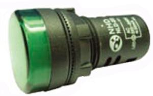 Nhd Nld22-Gi Green Push Button With Contact Element Ac/Dc 220-240v
