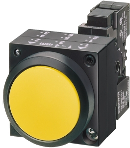 Siemens 3sb52 18-0lg01-0pq0 Yellow Color Actuator Raised Operation Type Push Button