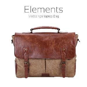 Portronics Brown Sling Laptop Bag Brown Leather Por 643