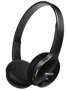 Philips Black On-Ear Bluetooth Stereo Headset Shb4000bk