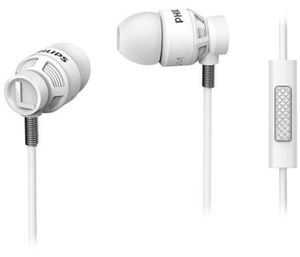 Philips White In-Ear Headphones With Mic She5205wt
