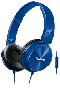 Philips Blue On-Ear Headphones With Mic Shl3095bl