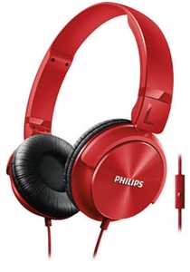 Philips Red On-Ear Headphones With Mic Shl3095rd