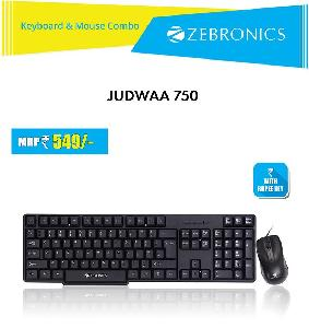 b78aa5f30a9 Buy Zebronics Judwaa 750 Wired Keyboard and Mouse Combo Online in ...
