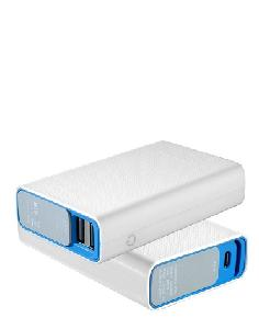 Portronics 10050 Mah Tork Power Bank (White & Blue)