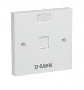 D-Link Single Port Face Plate Cat 5 - Nfp-0whixx