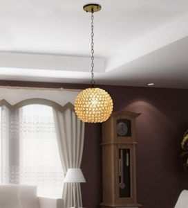 Noble Electricals Crystal Round Pendant Light