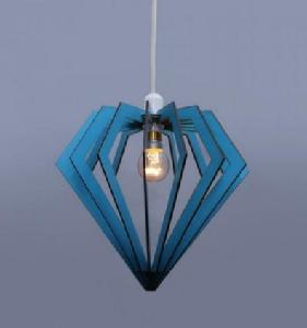 Noble Electricals Diamond Sky Blue Pendant Light Ned11.56