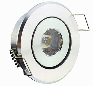 Noble Electricals 1.2w Blue 120lm White Powder Coated Led Down Light