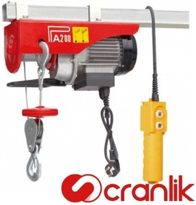Cranlik Pa 800, 20 Metre Electric Wire Rope Hoist