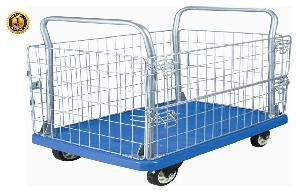 Bigapple Wh-4 300 Kg Capacity Blue Industrial Trolley