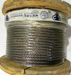 HERCULES FMC (Fibre Main Core) Wire Rope - Dia 40mm, Size 6x37mm